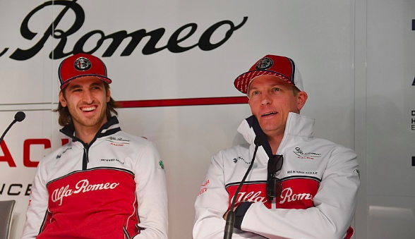 Kimi Raikkonen and Antonio Giovinazzi