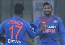 Rohit Sharma going to Rishabh Pant