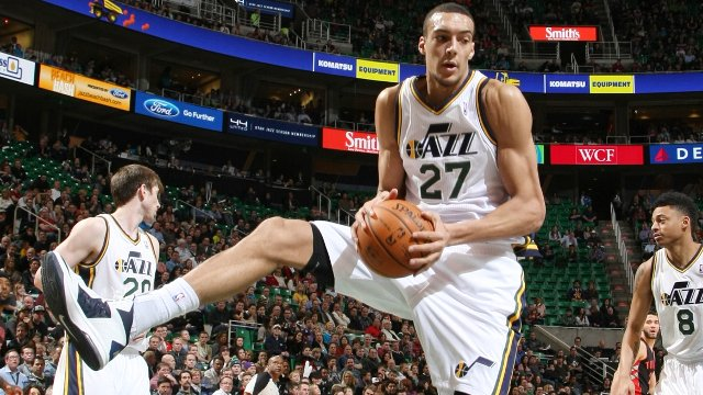 Rudy Gobert playing for Utah Jazz