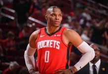Russell Westbrook playing for Houston Rockets