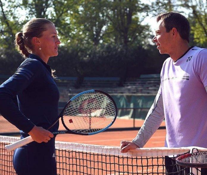 Kristina Mladenovic and Sascha Bajin