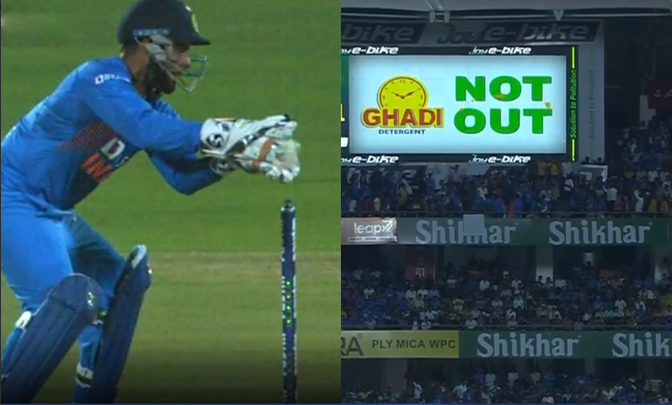 Rishabh Pant was a few inches in front of the wickets which saved Liton Das