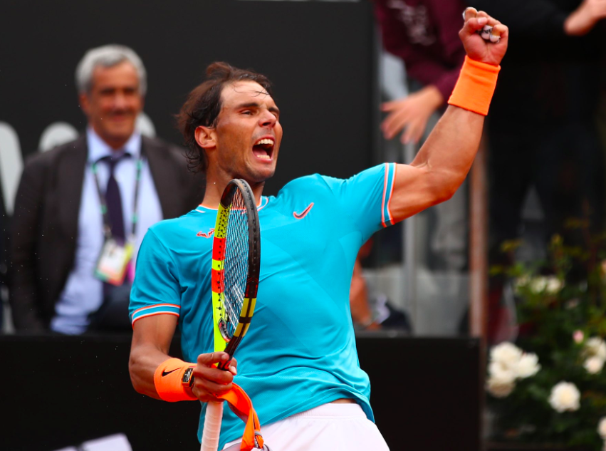 Rafael Nadal after yesterday's victory over Stefanos Tsitsipas