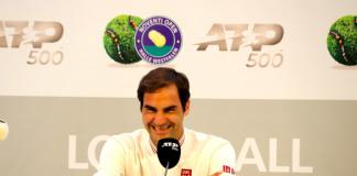 Roger Federer at Halle Open 2019