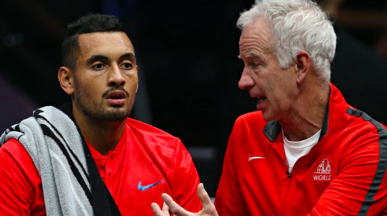 Nick Kyrgios and John McEnroe