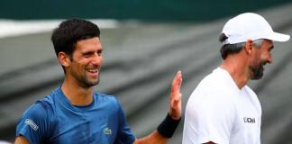 Novak Djokovic and Goran Ivanisevic