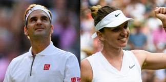 Roger Federer and Simona Halep