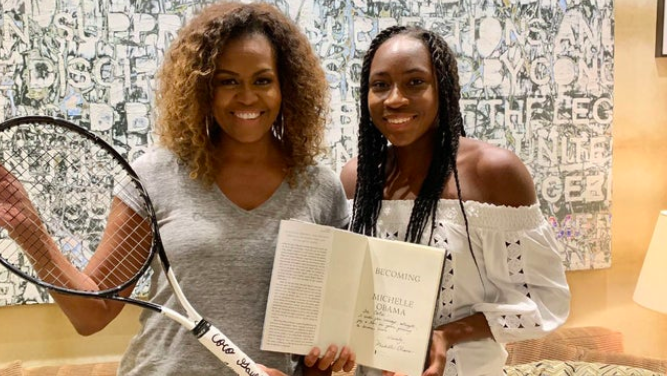 Cori Coco Gauff Meets Her Idol Michelle Obama