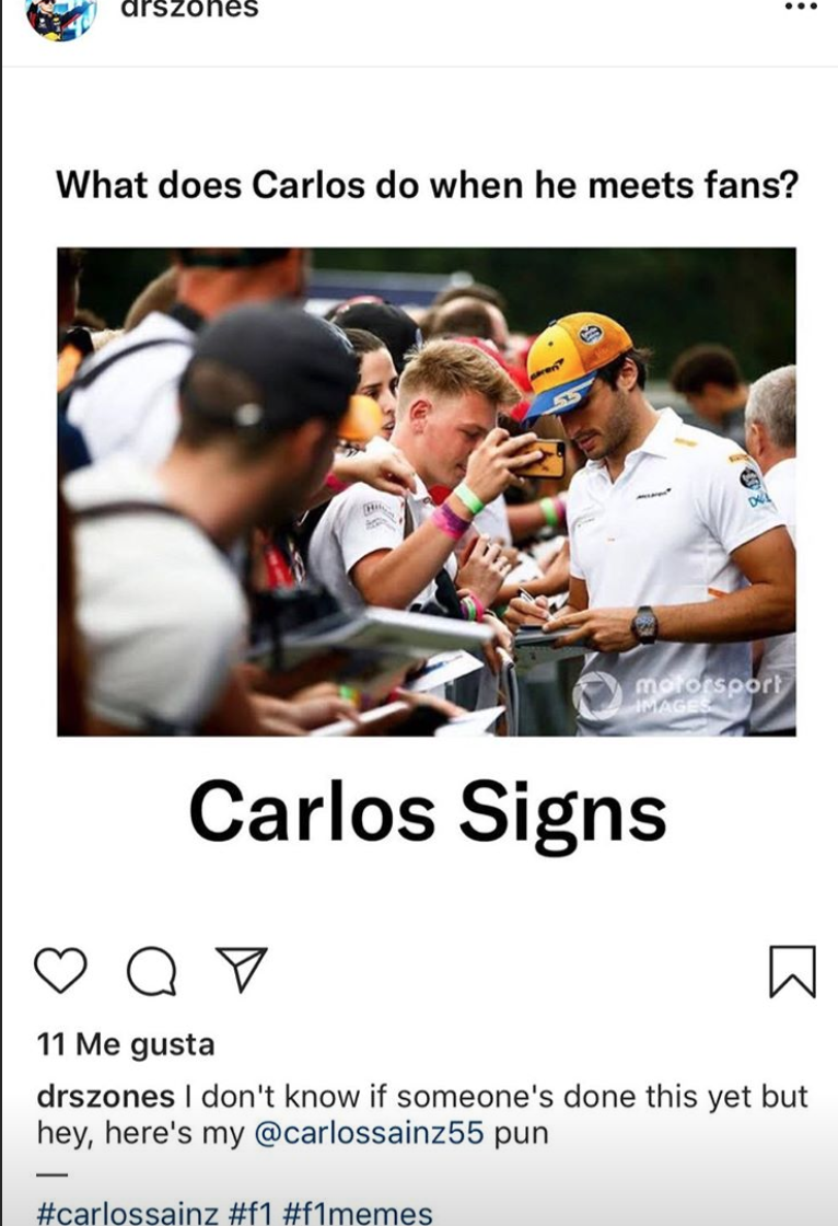 Carlos Sainz Competes With Lando Norris For The Title Of Meme Lord Essentiallysports