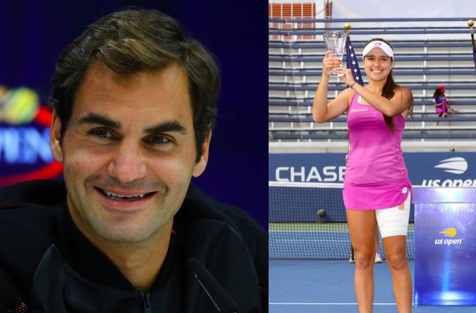 Roger Federer and Maria Camila Osorio Serrano