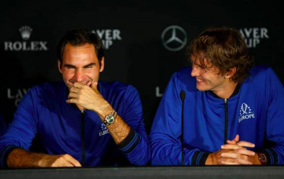 Roger Federer and Alexander Zverev