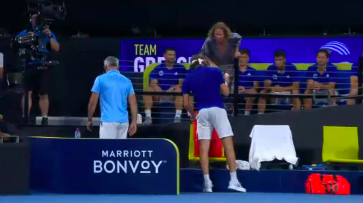 Watch Stefanos Tsitsipas Hits His Own Father During Meltdown Against Nick Kyrgios Essentiallysports
