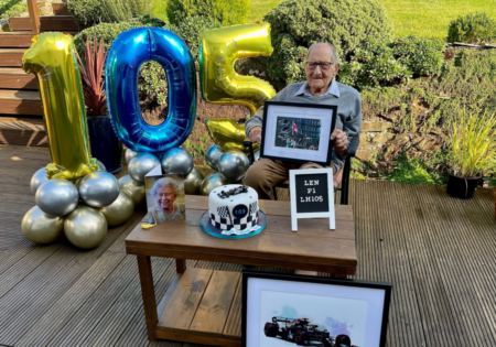WATCH: 105-Year-Old Lewis Hamilton Fan Shares His Pride in the Driver