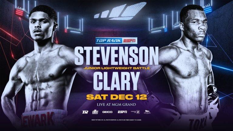 Watch Shakur Stevenson vs. Toka Kahn Clary 2020 12/12/20