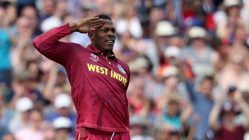 Sheldon Cottrell doing his salute celebration
