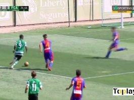 Sporting CP U-15 playing in a match