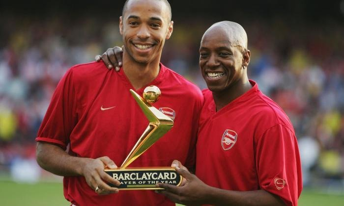 Premier League legends Thierry Henry and Ian Wright