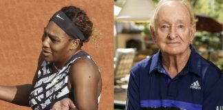 Serena Williams and Rod Laver