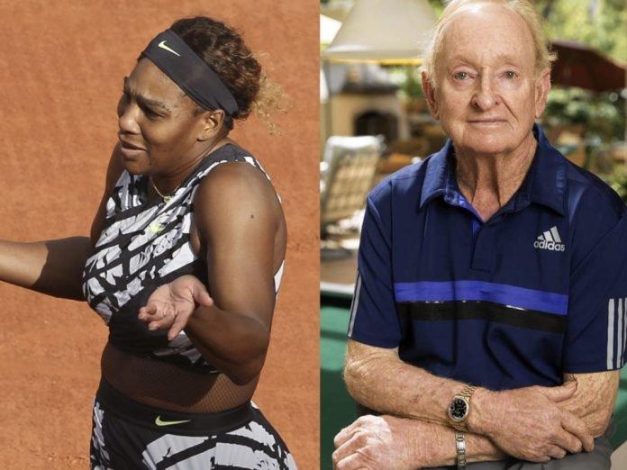 Serena Williams and Rod Laver