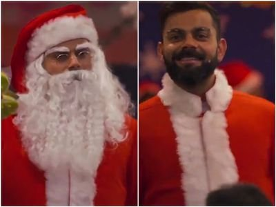 Virat Kohli dressed up as Santa Claus