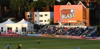 Vitality T20 Blast shown on the big screen during a match