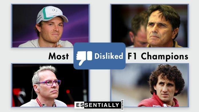 Disliked F1 Champion