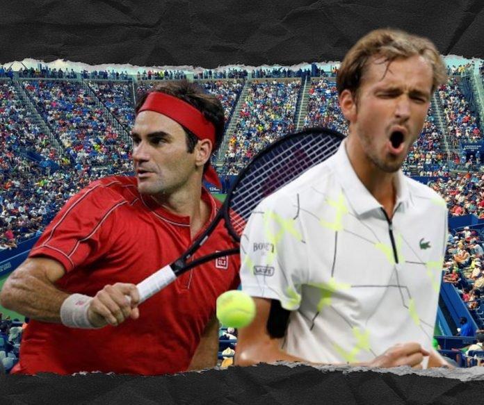 Roger Federer and Daniil Medvedev