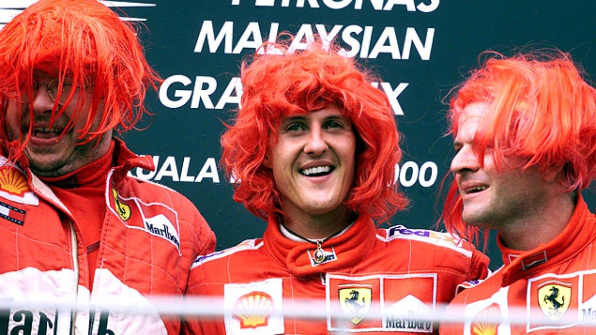 Why Schumacher and Barrichello Wore Red Wigs in 2000 - EssentiallySports