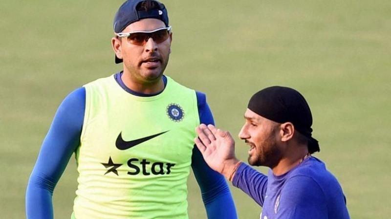 Yuvraj Singh and Harbhajan Singh