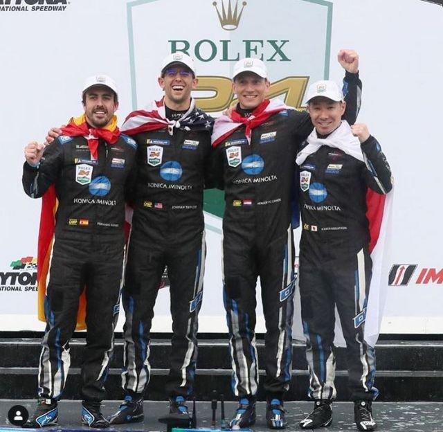 Fernando Alonso and WTR win rain-shortened Rolex 24