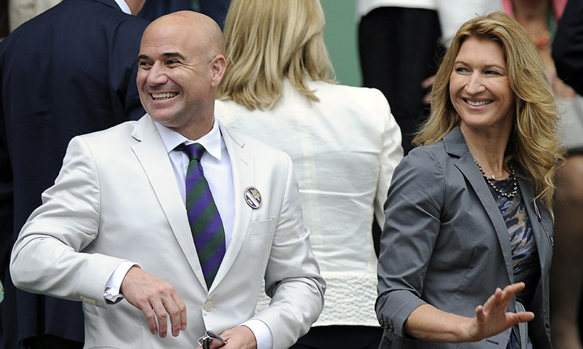 Andre Agassi and Steffi Graff
