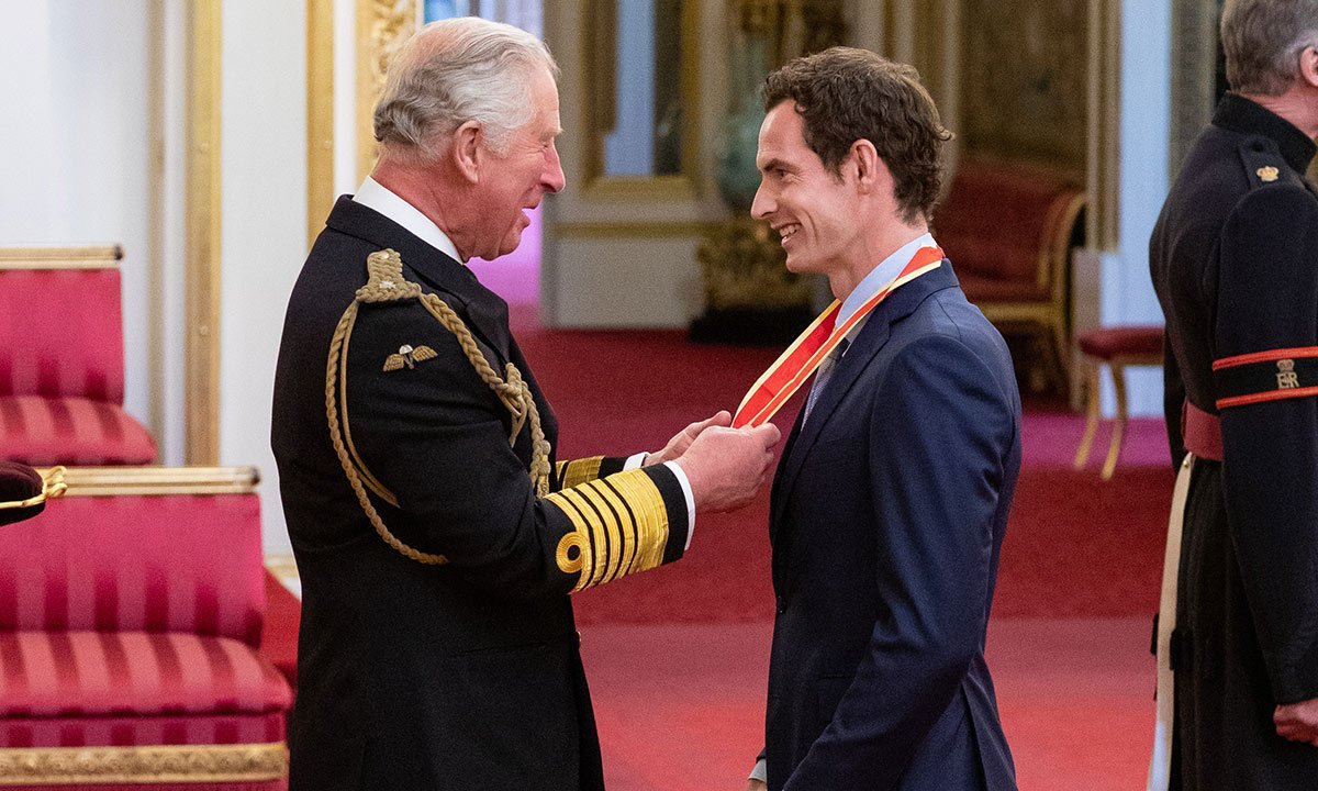 Andy Murray receives knighthood at Buckingham Palace