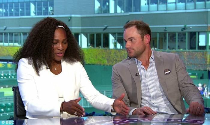 Andy Roddick and Serena Williams