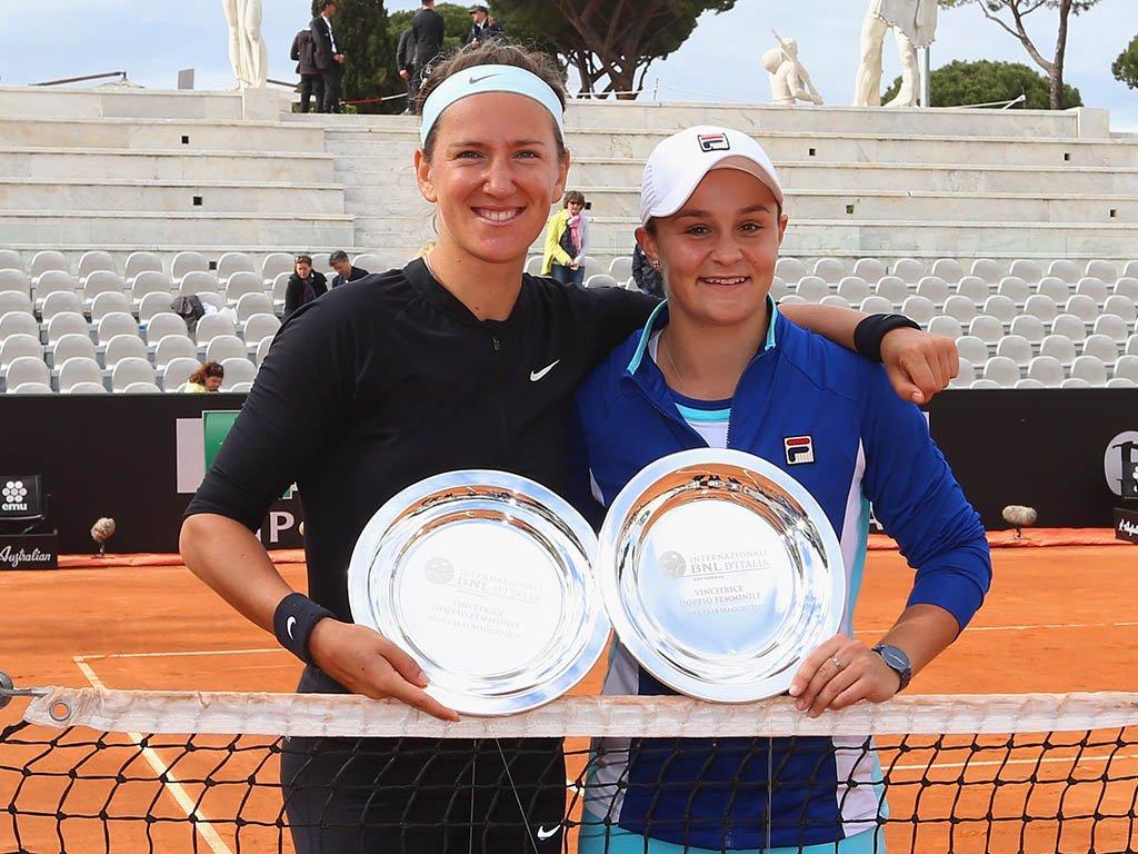 Victoria Azarenka and Ash Barty
