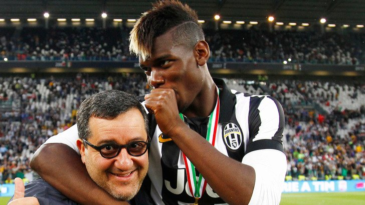 Mino Raiola and Paul Pogba