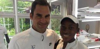 Roger Federer and Cori Gauff