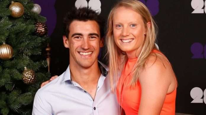 Mitchell Starc and Alyssa Healy