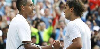 Nick Kyrgios and Rafael Nadal