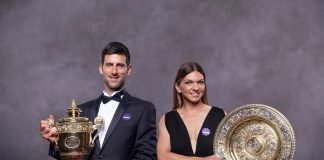 Novak Djokovic and Simona Halep