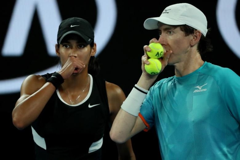 Astra Sharma and John-Patrick Smith at Australian Open 2019