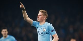 Kevin De Bruyne playing for Manchester City