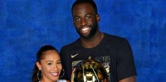 Draymond Green with his girlfriend Hazel Renee
