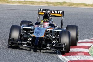 Pascal Wehrlein testing for Force India