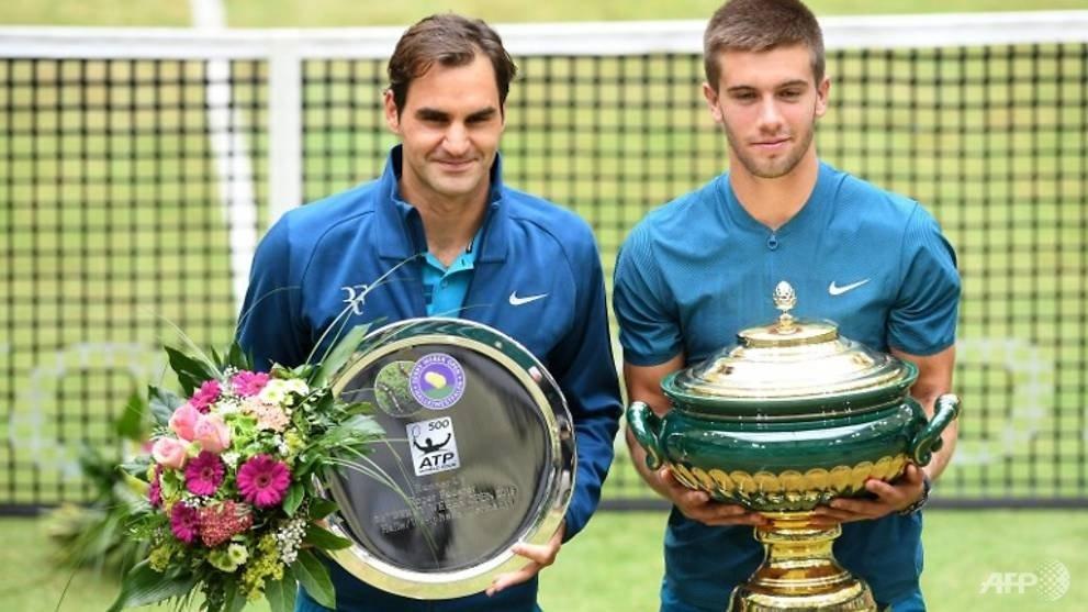 Roger Federer Borna Coric in Germany