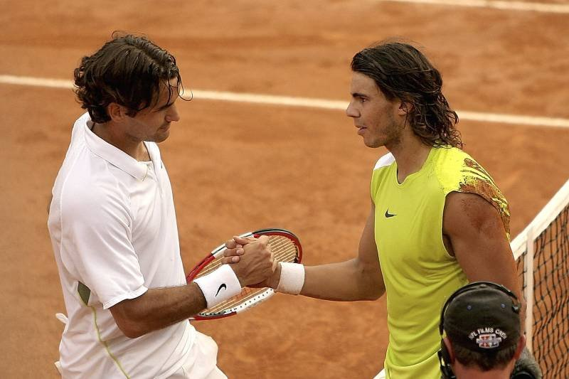 Roger Federer and Rafael Nada, Rome Masters 2006 final