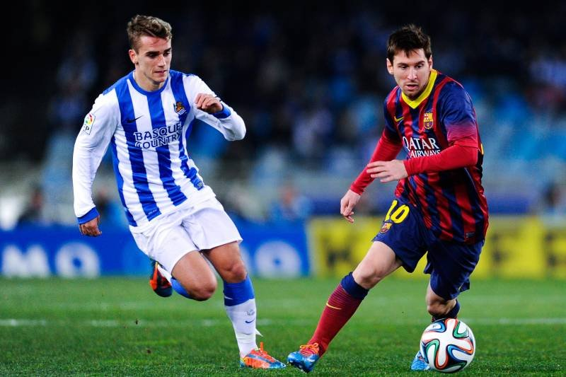 Antoine Griezmann and Lionel Messi