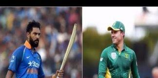 Yuvraj Singh and AB deVillers