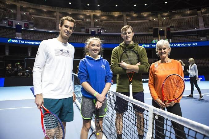 Andy Murray, Jamie Murray, and Judy Murray