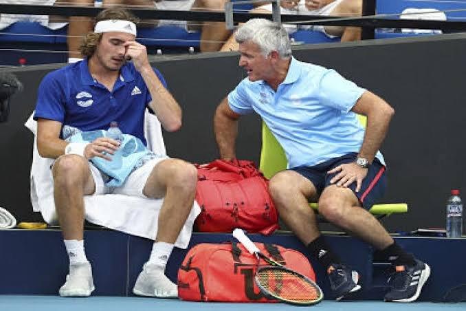 Watch Stefanos Tsitsipas Makes Racquet Smash Joke On His Father Essentiallysports
