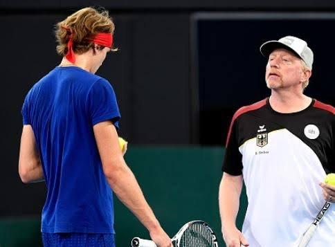 Alexander Zverev and Boris Becker